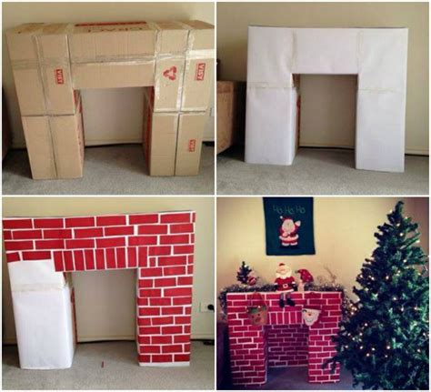 How To Make A Paper Fireplace For - cool creativity diy cardboard fireplace