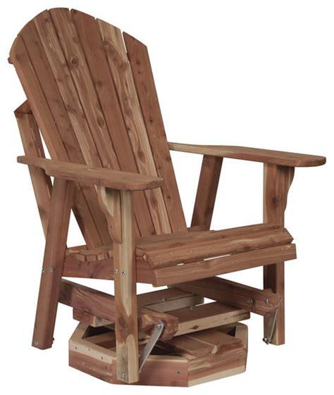 Cedar Adirondack Chairs Cedar Adirondack Swivel Glider Traditional Rocking