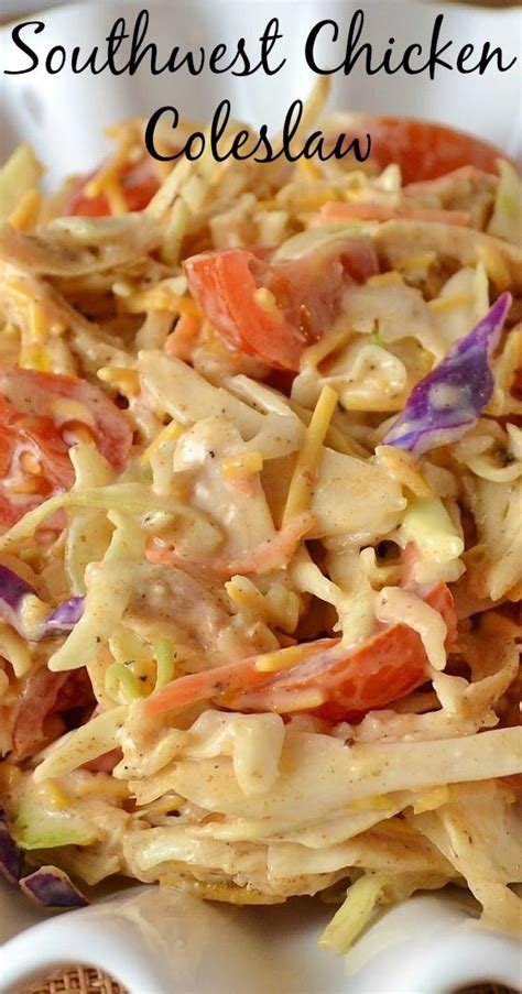 Side Suitable For A Bbq Cole Slaw by Mexican Side Dishes Southwest Chicken And Coleslaw