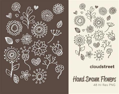 free doodle flowers flower doodles www pixshark images