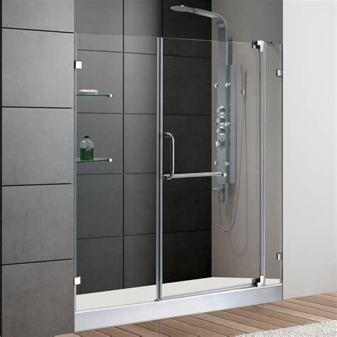 vigo 60inch frameless shower door 38quot clear glass chrome