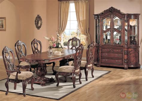 marisol cherry finish formal dining room table set formal dining room furniture marisol cherry finish