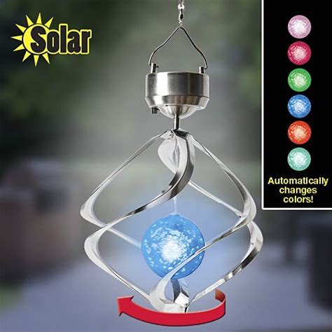 solar spiral lights semlos colorful solar spiral wind waterproof changing led light balcony courtyard