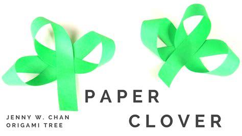Origami Shamrock - paper clover shamrock tutorial 187 origamitree