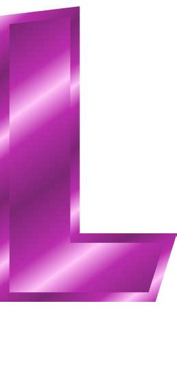 Purple L Letter L Clipart Clipart Suggest