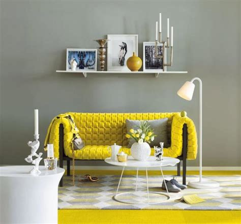 grey and yellow room yellow grey living room with yellow carpet and bookcase mounted on wall olpos design