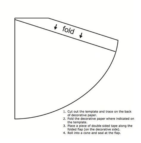 template to make a cone paper cones templates and paper on