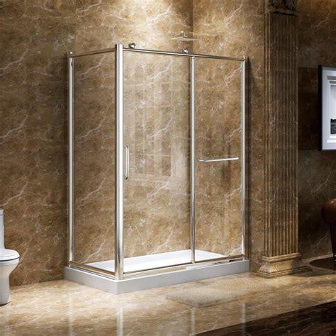 corner bath with shower enclosure 45 quot x 31 quot alva corner shower enclosure with sliding door glass shower enclosures shower