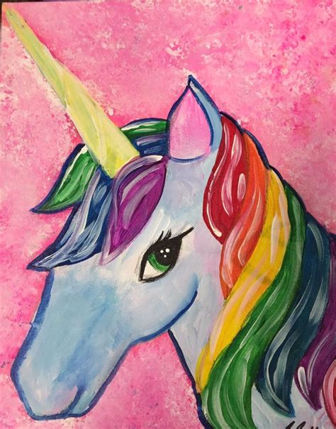 painting unicorn creatively paintings creatively uncorked