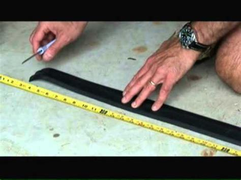 How To Install A Garage Door Bottom Seal Youtube How To Install Garage Door Bottom Seal