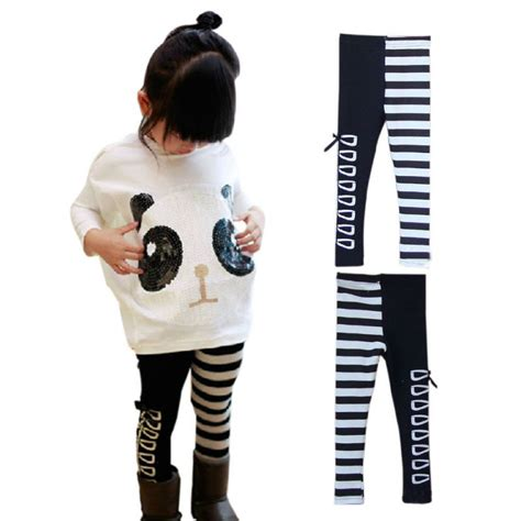 2pcs toddler infant panda coat striped