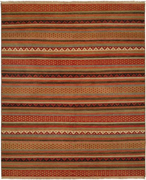 Navajo Blanket Design Multi Colored In Sage Wheat And Rust Colored Area Rugs