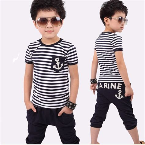 Kido T Shirt Set Anak 2015 new children clothing set boys set baby sets t shirt 2 pcs set clothes
