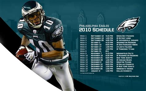 nfl wallpaper zone philadelphia eagles 2010 schedule