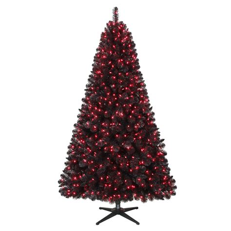 trim a home brilliant tree trim a home 174 6 5ft oxford black pine tree with 600 pink lights