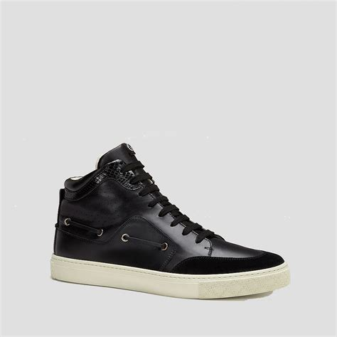 black high top sneakers mens gucci mens shoes black multi material high top sneaker