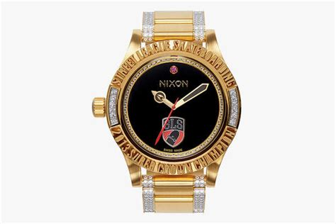 blinged out trophy watches nixon x league