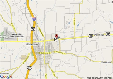 gainesville texas map map of americas best value inn gainesville