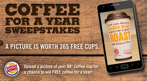 Burger King Sweepstakes - burger king coffee for a year sweepstakes thrifty momma ramblings