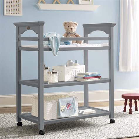 graco changing table pebble gray graco lauren changing table in pebble gray 00524 42f