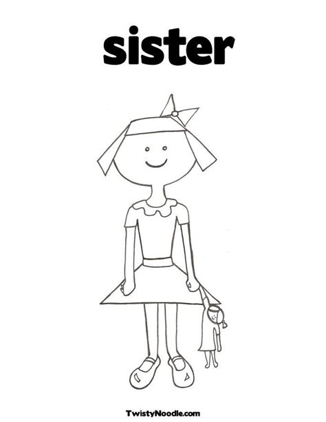 big sister coloring page coloring home