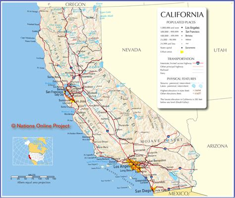 map california usa california map in usa