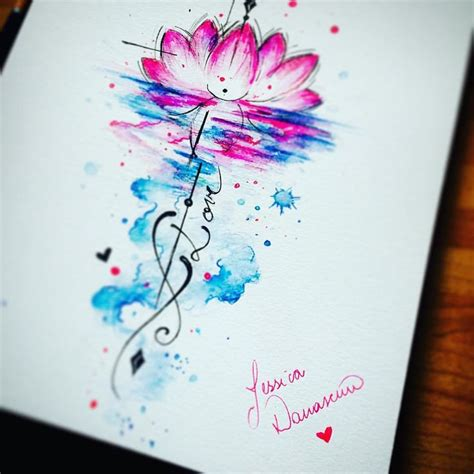 watercolor yoga tattoo the 25 best watercolor lotus ideas on