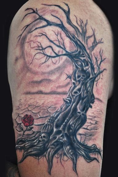 wicked tree tattoo designs evil tree by tattoonow