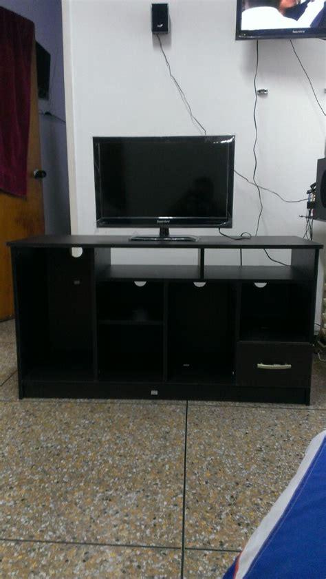 mueble wengue tv mueble para tv color wengue listo para armar bs 7 500