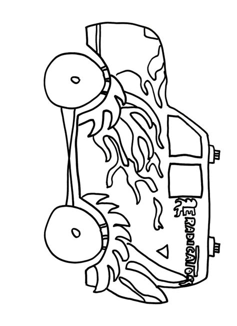 grave digger coloring page az coloring pages