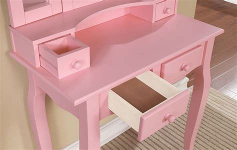 claudia mirrored vanity desk claudia pink makeup vanity table with mirror and bench