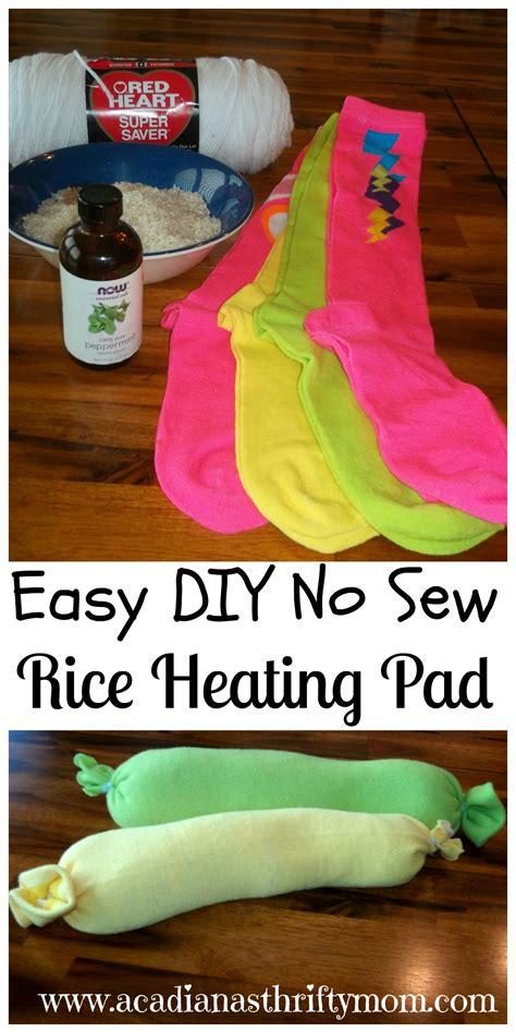 diy sock rice heating pad no sew rice heating pad archives acadiana s thrifty