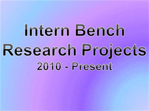 what is bench research american center for reproductive medicine summer