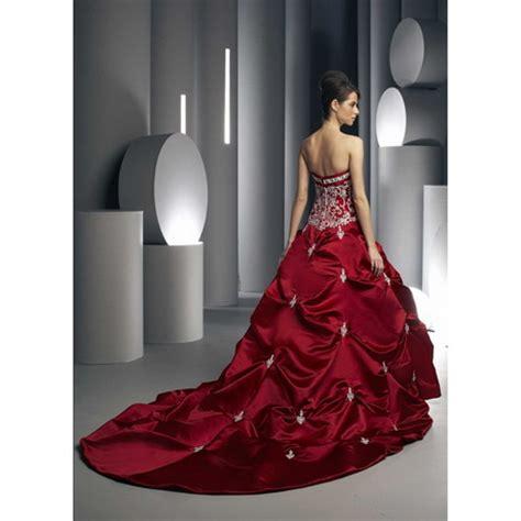 white  red wedding dresses