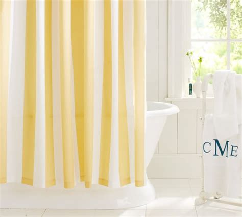 classic shower curtain pb classic stripe shower curtain pottery barn