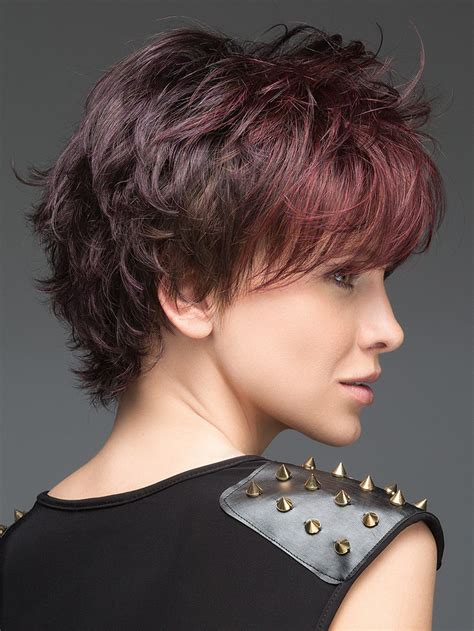 layers with shirt crown hair cut open synthetic wig mono crown dark brown mixed