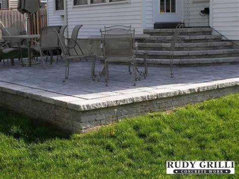 rudy grilli concrete work sted decorative concrete raised patios nj patios pinterest