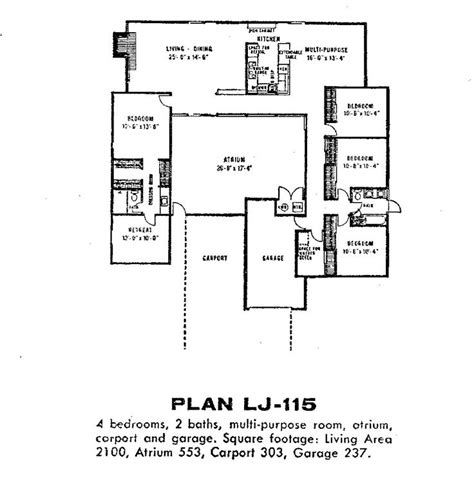 eichler atrium floor plan 929 best images about floorplans on pinterest house