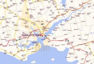 charlottetown map and charlottetown satellite image