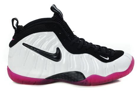 nike air foosite white black pink shoes aj