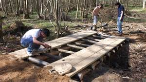 how to build a small wooden bridge building a log bridge gopro timelapse youtube