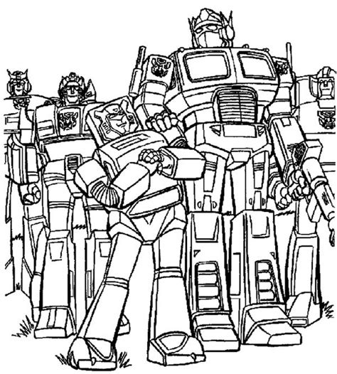 Transformers 4 Coloring Pages Free Printable