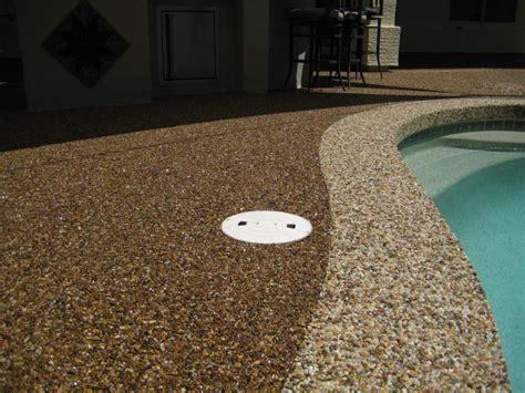 concrete patio with pebble stones houses flooring picture