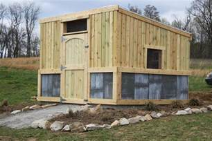 the new chicken coop is completed building security for