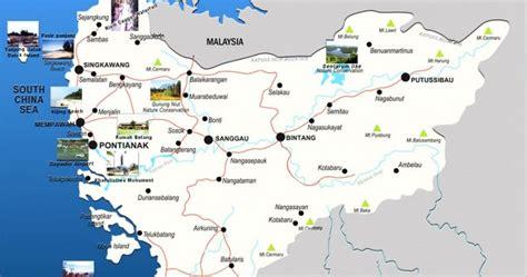 peta kalimantan barat lengkap  kabupaten   kota