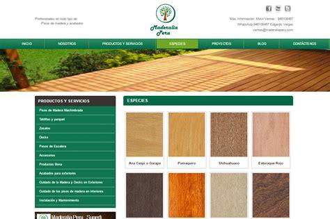 webs venta de pisos dise 241 o web pisos de madera maderalia peru ingenioart