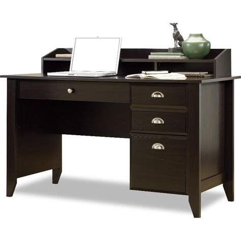 Home Office Desks B Q Shoal Creek Brown Black Desk Chair