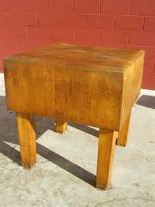 american antique butchers block antique cutting board an early 20th century maple butcher block on four turned