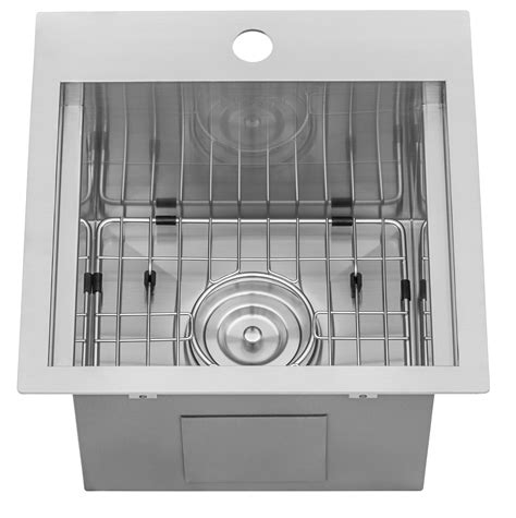 ruvati    workstation drop  topmount bar prep rv sink  gauge stainless steel