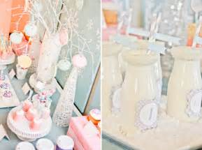 Winter wonderland 1st first birthday party via karas party ideas